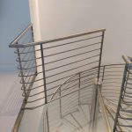 Glass Landing Spiral Stairs