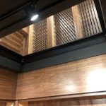 Interior Glass Floor Wine Cellar from underneath